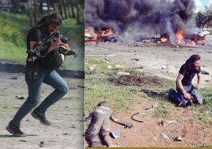 Fotograf se snažil zachránit dětské oběti sobotního útoku na konvoj v Sýrii.
