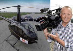 Karel Voříšek a vrtulník TV Prima