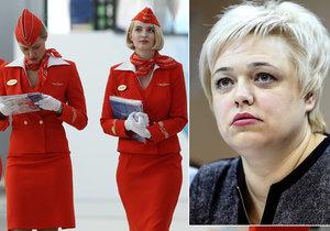 Letušky žalují Aeroflot kvůli diskriminaci.