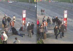 Ukrajinec zmlátil na zastávce seniora. Chtěl pak odjet autobusem, cestující a řidič ho zadrželi.