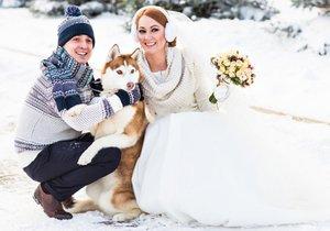 Svatební video si nechali natočit od své fenky