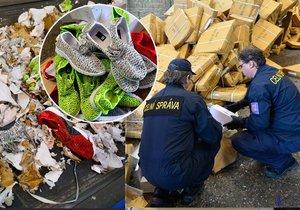 Celníci zlikvidovali 15 000 párů padělaných bot. Skončily v drtičce odpadu.