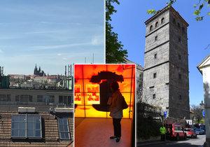 Výstava Praha hoří! v Novomlýnské věži nabízí svým návštěvníkům několik zajímavých zážitků. Například krásný výhled a zajímavé audiovizuální prvky.