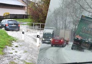 Situace v Moravskoslezském kraji je dramatická. Řeky stoupají ke třetímu povodňovému stupni a zároveň tu i sněží!
