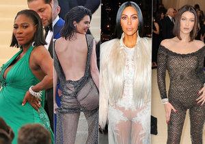 Na události Met Gala se objevilo mnoho celebrit.