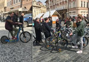 Praha 1 chystá omezení pro pohyb jízdních kol a koloběžek v centru Prahy.