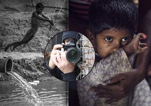 Umělec s pseudonymem Fotograf bez talentu fotil v Bangladéši, teď vystavuje v Praze.