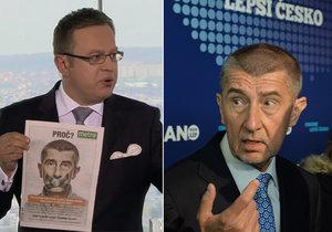Andrej Babiš nepřišel k Moravcovi do pořadu. Je za to prý rád.