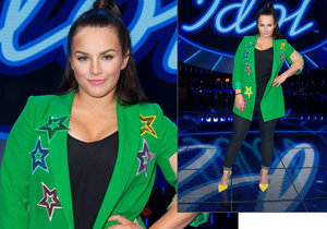 Ewa Farna zakryla kilogramy zeleným outfitem.