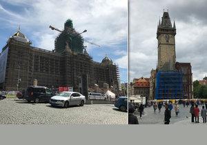 Řada významných památek v Praze se teď ocitla pod lešením.