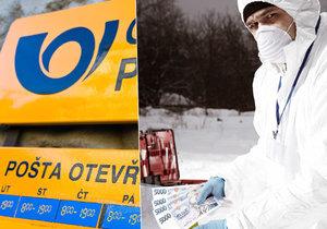 Poštu v Ježově na Hodonínsku vybral falešný policista, který vedoucí namluvil, že musí dezinfikovat peníze po chemickém útoku. (Ilustrační foto)