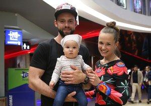 Michael Foret s manželkou Eliškou a dcerou Liou