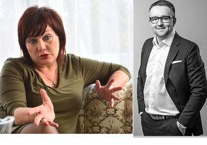Alena Schillerová, náměstkyně ministra financí, a její zeť David Rusňák – zakladatel investiční skupiny DRFG