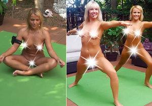 Jenny Scordamaglia se proslavila jako hanbatá moderátorka. Nyní cvičí nahá jógu.