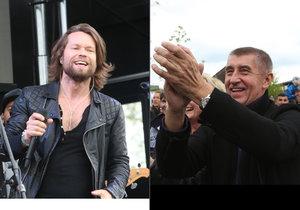 Richard Krajčo vystoupil s kapelou Kryštof na Babišově Čapím hnízdě. Nehrál prý pro odcházejícího ministra, ale pro nadaci.