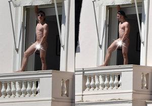 Naháč se opaloval na balkoně hotelu v Cannes.