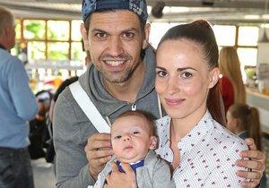 Petr Vojnar s manželkou a synem Sebastianem