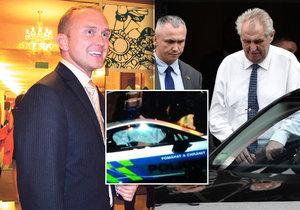 Nehoda policejního BMW: Zeman navštívil expřítele své dcery v nemocnici. Předtím zaútočil na policii