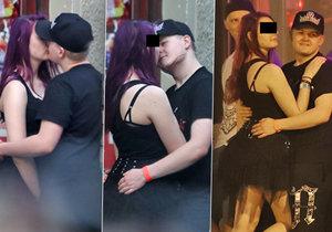 Artur Štaidl si našel novou dívku, kterou líbal a objímal na ulici po koncertě.