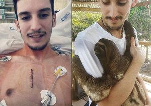 I přes vysoké horečky se Petr pomazlil s lenochodem. V Peru se vložil do rukou šamanů a doufá, že mu pomohou vyléčit rakovinu.