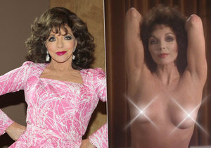 Joan Collins ukázala prsa.