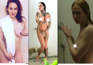 Tyto ženské celebrity se předvádět nahé ve sprše rozhodně nebojí.