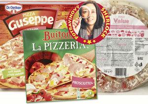 Test: Mražené šunkové pizzy