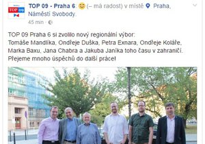 TOP 09 z Prahy 6 si utrhla pořádnou ostudu.