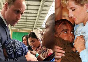Princ William je jako jeho maminka Diana. Kašlal na protokol a objal zoufalou ženu.
