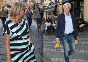 Juraj Kukura vyrazil na nákup s manželkou.