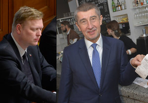 Andrej Babiš (vpravo) i Pavel Bělobrádek se svými stranami sází na zmírnění elektronické evidence tržeb, kterou si sami zavedli.