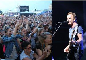 Sting vystoupil v Praze.