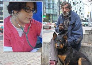 Pražští bezdomovci se o své psy starají lépe než o sebe. Tvrdí to veterinářka, která s nimi přichází do styku. (Ilustrační foto)