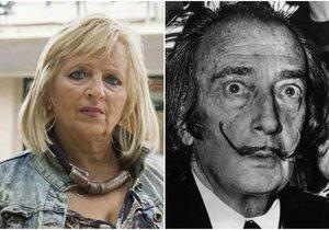 Salvador Dalí a Pilar Abelová, která tvrdí, že je umělcovou dcerou.