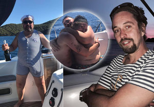 Jan Dolanský si užívá divokou pánskou jízdu s kolegy na jachtě.