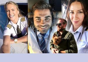 Nejvíce sexy piloti a pilotky, na které můžete v oblacích narazit.