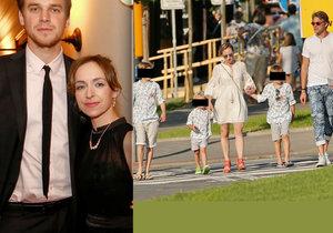 Tatiana Vilhelmová dokonale sladila svou rodinku.