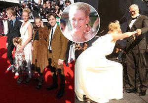 Co předvedla Uma Thurman na slavnostním zahájení festivalu v Karlových Varech?