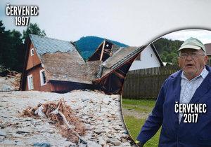 Karel Šindelr (82) má vzpomínky na povodně z roku 1997 stále v živé paměti.