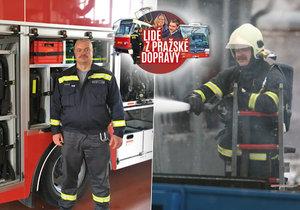 Hasič Lukáš Zapletal pracuje u dopravního podniku 22 let.