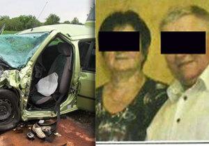 Martin (†73) a Jarmila (†67) zahynuli při nehodě u Vnorov.