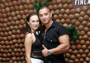 Kamila Nývltová se svým trenérem a přítelem Pepou