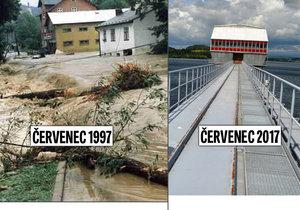Povodně před 20 lety byly na severu Moravy ničivé. Kdyby ale vodu nezadržovala přehrada Slezská Harta, byla by to apokalypsa.
