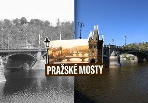 Čechův most v Praze vznikal velice rychle, stavěli ho na třech místech najednou.