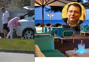 Jiří Paroubek tráví léto v luxusním hotelu ve Francii. Tvrdí, že sám, přestože ho reportéři Blesku načapali u jeho domu v Chuchli s novou ženou.