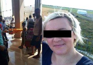 Zraněnou českou turistkou je účetní Lenka z Rakovnicka.