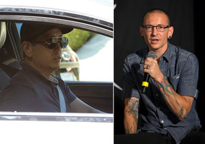 DJ skupiny Linkin Park Joe Hahn se přijel rozloučit s Chesterem Benningtonem.