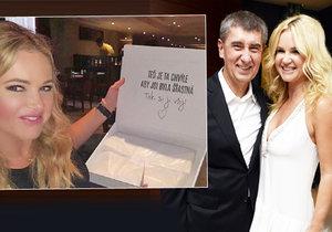 Monika Babišová oslavila rozlučku se svobodou. Od kamarádek dostala krásný dárek!