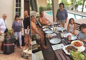 Adamcovi coby hostitelé v Miami