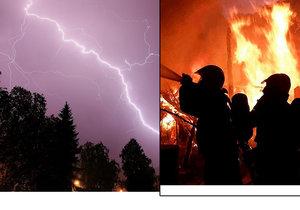 Horké počasí přineslo do Česka i riziko silných bouřek a dalších požárů.